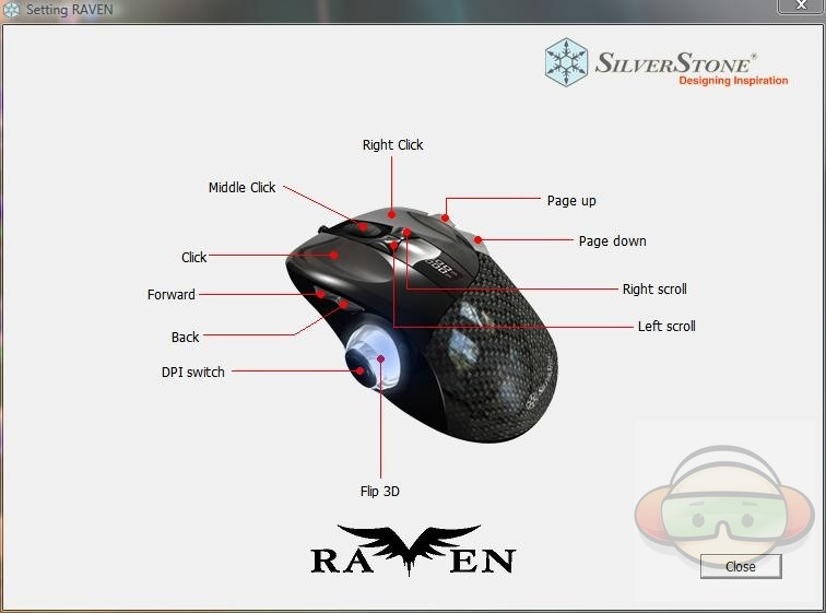 Silverstone Rvm01b Raven Gaming Mouse Sst