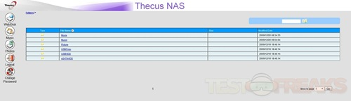 thecus n3200 user interface