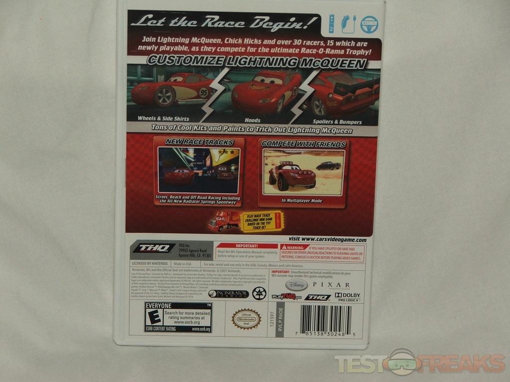 Cars Race O Rama Wii Game