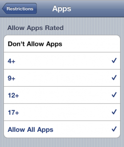 AppsRestrictions