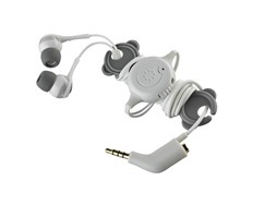 Memorex IE600 Phone Control Ear Phones in Gray High Res Photo
