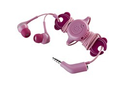 Memorex IE600 Phone Control Ear Phones in Rose High Res Photo
