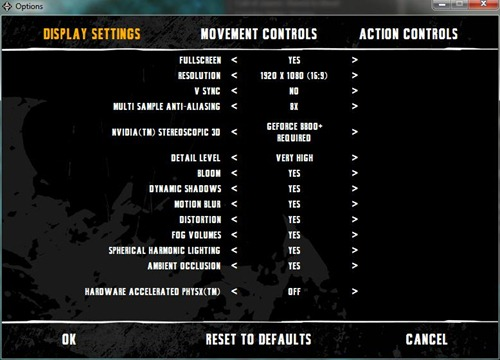 bman arkham asylum settings