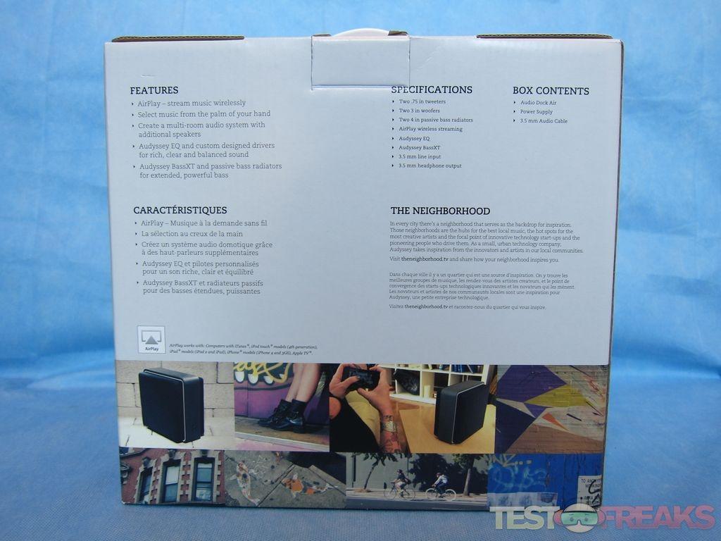 audyssey audio dock air manual