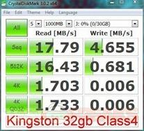 kingston 32gb crystaldiskmasrk