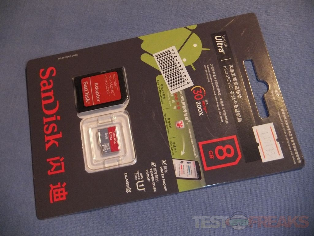 Review Of Sandisk Class 10 8gb Ultra Microsdhc Uhs I Card Technogog Memory Sd 32gb The Comes With An Adapter And A Qr Code To Download Android App