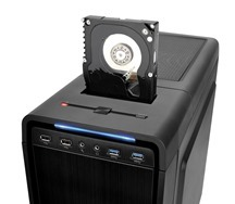 Thermaltake Urban S31 mid-tower case has top-mounted 2.5_ or 3.5_HDD Docking Station, which enables blazing fast file transfers