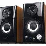 SP-HF500A Wooden Speakers - Close Up Full View (by Genius)