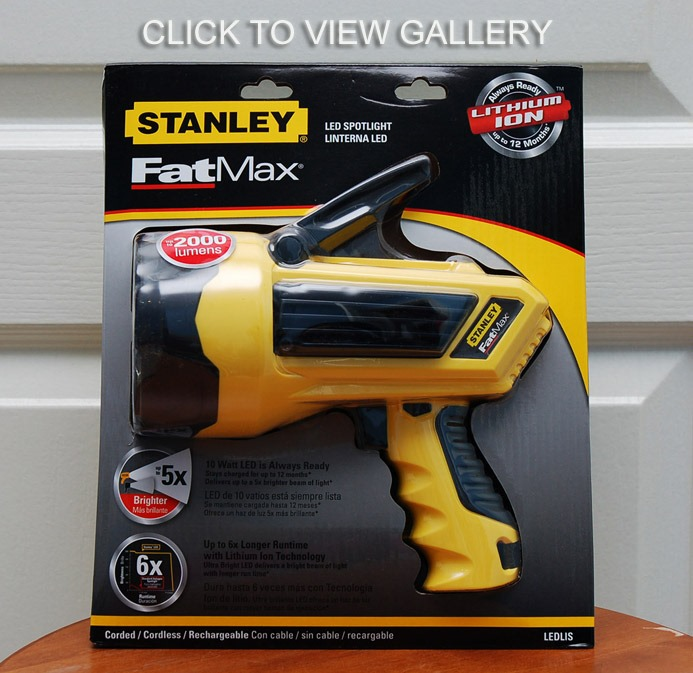 Stanley 5 Watt Led Rechargeable Spotlight: Stanley FatMax LEDLISL+HIDLISL Lithium-Ion Flashlights