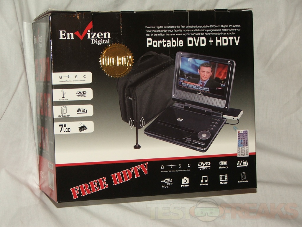 envizen digital duo box portable digital tv dvd player technogog. Black Bedroom Furniture Sets. Home Design Ideas