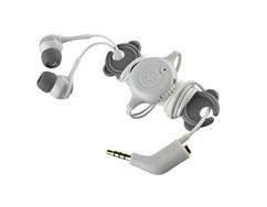 Memorex IE600 Phone Control Ear Phones in Gray High Res Photo